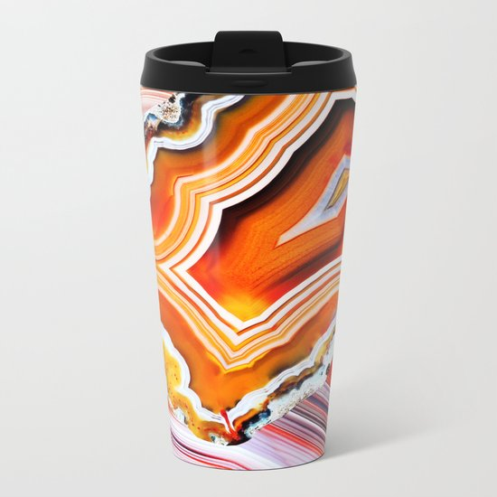 The Vivid Imagination of Nature, Layers of Agate Metal Travel Mug