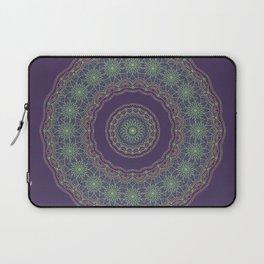 Lotus Mandala in Dark Purple Laptop Sleeve