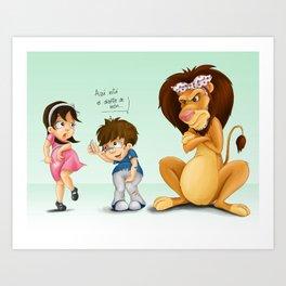 Diente de león - Bapo & Popa Art Print