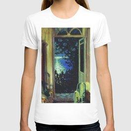 Moonlit Ocean on the Italian Mediterranean, Amalfi Coast Positano, Summer Night by Sergei Vinogradov T-shirt