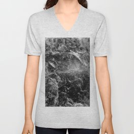 Enigmatic Black Marble #1 #decor #art #society6 Unisex V-Neck