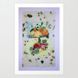 Oranges and Strawberries Art Print