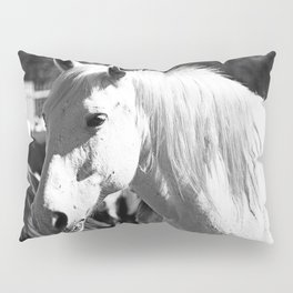 White Horse-B&W Pillow Sham