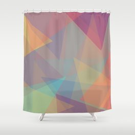 Color cones Shower Curtain