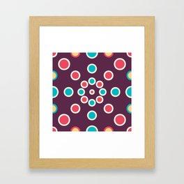 Boho Circle Designs In Purple Framed Art Print