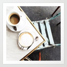 Café in Paris Art Print