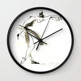 Dance Drawing Wall Clock