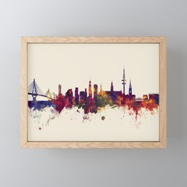 Hamburg Germany Skyline Framed Mini Art Print