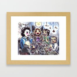 Dinner with the Family Framed Art Print