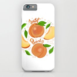 Just Peachy Yummy iPhone Case