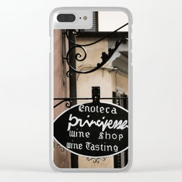 Wine Shop Sign Clear iPhone Case