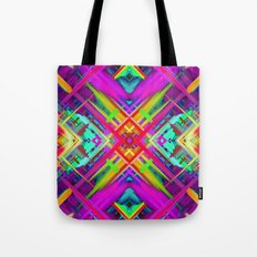 Colorful digital art splashing G475 Tote Bag