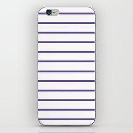 Ultra Violet Breton Stripes iPhone Skin