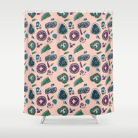 geode Shower Curtains featuring Geode by daintyish