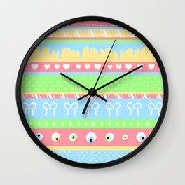 Creepy Cute Stripes Wall Clock