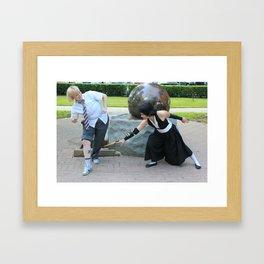 Shinji Versus Soi Fon Framed Art Print