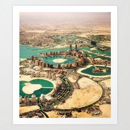 doha aerial view Art Print
