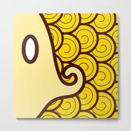 Niji Sakana (Yellow) Metal Print