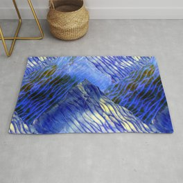Shibori Surf Waves Rug