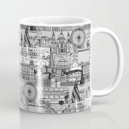 London toile black white Coffee Mug