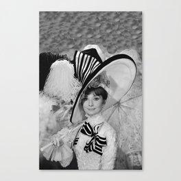 Audrey Hepburn ICONIC ICON BEAUTY SCENE Canvas Print