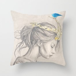 Glimmering gold crown Throw Pillow