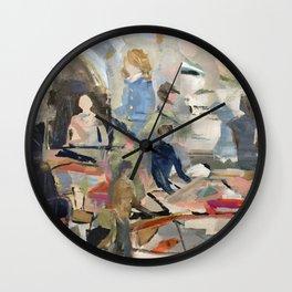 Jammin' on the Shore Wall Clock