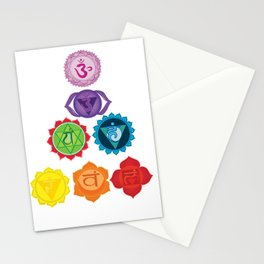 Seven Chakras Stationery Cards