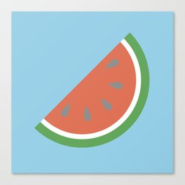 Bright Summer Watermelon Canvas Print