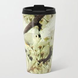 Tufted Titmouse Spring Flower Farmhouse Art Country Home Decor A132 Travel Mug