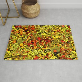 Abstraction. The heat of summer. Rug