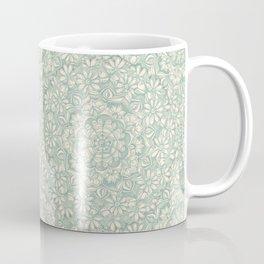 Sage Medallion with Butterflies & Daisy Chains Coffee Mug