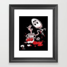 Blood Dumpster Framed Art Print