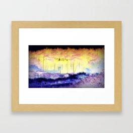 Cosmic Pines Framed Art Print