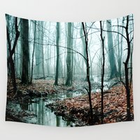 black Wall Tapestries featuring Gather up Your Dreams by Olivia Joy StClaire
