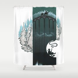 Fantastic journey in circele Shower Curtain