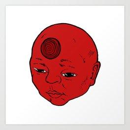 Spiral Lined Art Print
