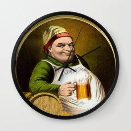 Lager bier Wall Clock