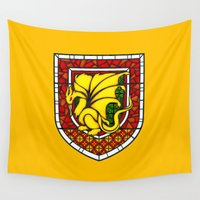 merlin Wall Tapestries featuring Merlin Pendragon Crest by sirwatson