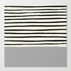 Storm Grey x Stripes Canvas Print