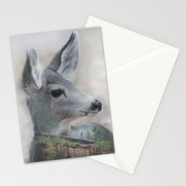 Hiking in the woods Stationery Cards
