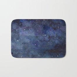 Night Sky Stars Galaxy | Watercolor Nebula Bath Mat