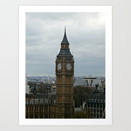 Big Ben Colour Art Print