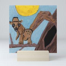 Squareland -Squarrel Mini Art Print