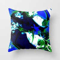 artsy Throw Pillows featuring Artsy. by Bliss