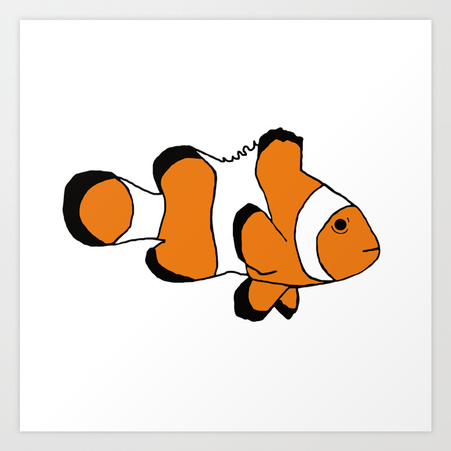 One Clownfish Art Print By Stephaniepeters Society6