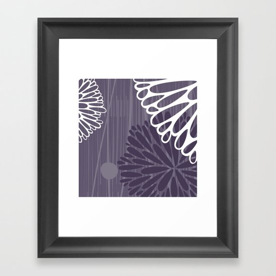 Abstract Floral in Purple by Friztin Framed Art Print