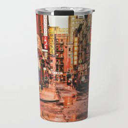 New York City Rain in Chinatown Travel Mug
