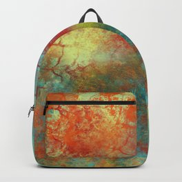 Orange and Blue Beauty Backpack