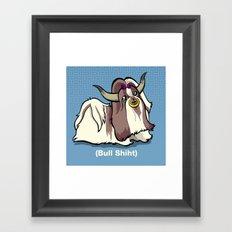 Bull Shiht Framed Art Print
